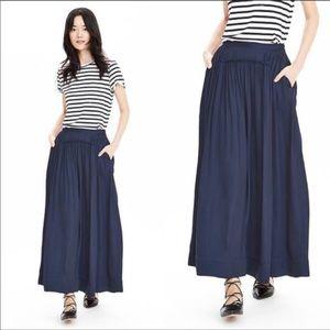 BANANA REPUBLIC navy blue full maxi skirt lined